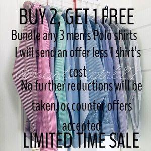 BUY 2 GET 1 FREE 🐎POLO RALPH LAUREN men's shirts